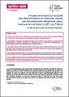 Ampleur et impact sur la santé des discriminations et violences vécues par les personnes lesbiennes, gays, bisexuel.le.s et trans (LGBT) en France. Un état des lieux à partir des données françaises