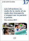 Les infractions au code de la route et au code des transports. L'impact sur le permis à points Bilan statistique 2017