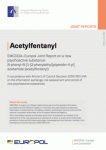EMCDDA-Europol joint report on a new psychoactive substance: N-phenyl-N-[1-(2-phenylethyl)piperidin-4-yl]acetamide (acetylfentanyl)