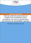 État de santé des personnes en situation de prostitution et des travailleurs du sexe et identification des facteurs de vulnérabilité sanitaire. Evaluation de santé publique