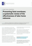 Preventing fatal overdoses: a systematic review of the effectiveness of take-home naloxone