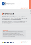 EMCDDA-Europol Joint Report on a new psychoactive substance: methyl 1-(2-phenylethyl)-4-[phenyl(propanoyl)amino]piperidine-4-carboxylate (carfentanil)