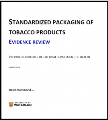 Standardized packaging of tobacco products: Evidence review