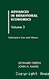 Advances in behavioral economics. Vol.3 : Substance use and abuse