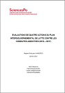 Evaluation de quatre actions du Plan gouvernemental de lutte contre les conduites addictives (2013-2017)