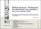 Tableau de bord « Traitements de substitution aux opioïdes ». Mise à jour septembre 2020