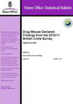 Drug misuse declared: Findings from the 2010/11 British Crime Survey. England and Wales