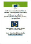 Socio-economic inequalities in alcohol consumption and harm: Evidence for effective interventions and policy across EU countries