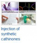 Injection of synthetic cathinones