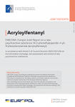 EMCDDA-Europol Joint Report on a new psychoactive substance: N-(1-phenethylpiperidin-4-yl)-N-phenylacrylamide (acryloylfentanyl)