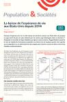 Population et Sociétés, n°570 - Octobre 2019 - La baisse de l'espérance de vie aux États-Unis depuis 2014